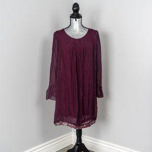 Dresses & Skirts - NWOT Angela Mara plum silk dress -Italy